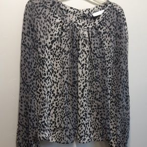 Jennifer Lopez Sheer Animal Print Blouse